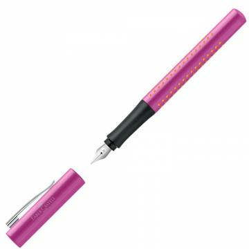 Nalivno pero Faber-Castell Grip M pink Roza 3973